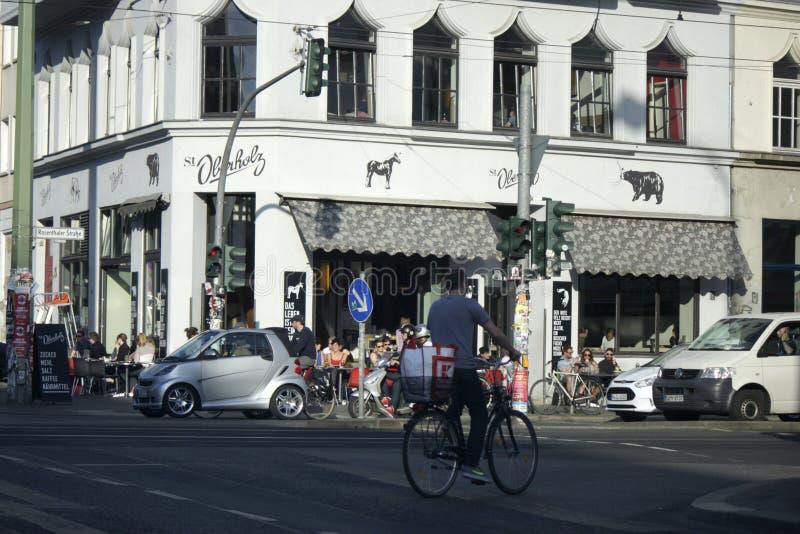 St. Oberholtz. MAY 2014 - BERLIN: the St. Oberholtz cafe, Rosenthaler Platz, Berlin-Mitte stock photos