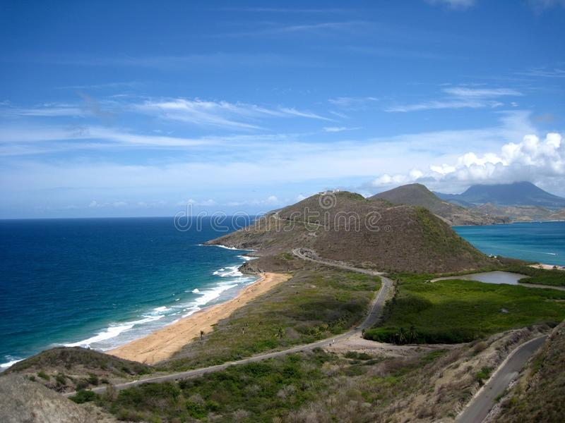 St. océanos atlánticos y del Caribe de San Cristobal imagenes de archivo