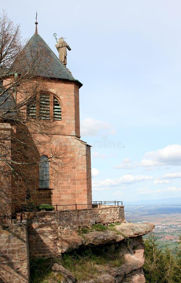 St Odile, un convento di Mont nelle montagne dei Vosgi immagine stock