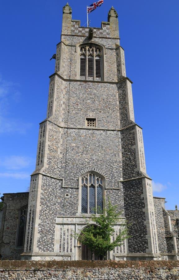 St oknówek Buckenham Nowy kościół obrazy royalty free