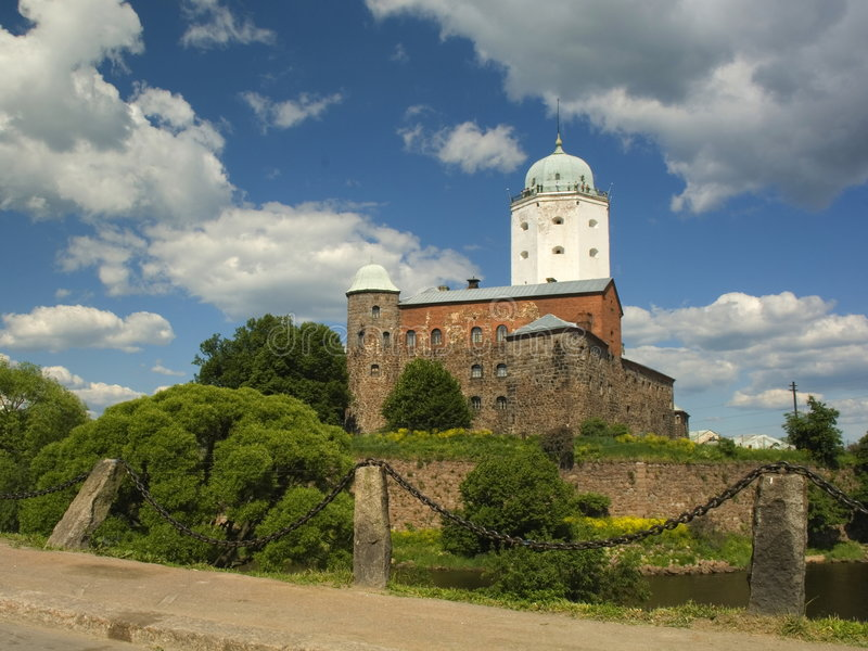 St Olaf castle in Vyborg. Old Swedish castle in Vyborg, Russia stock images