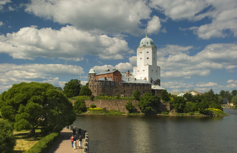 St Olaf castle in Vyborg royalty free stock image
