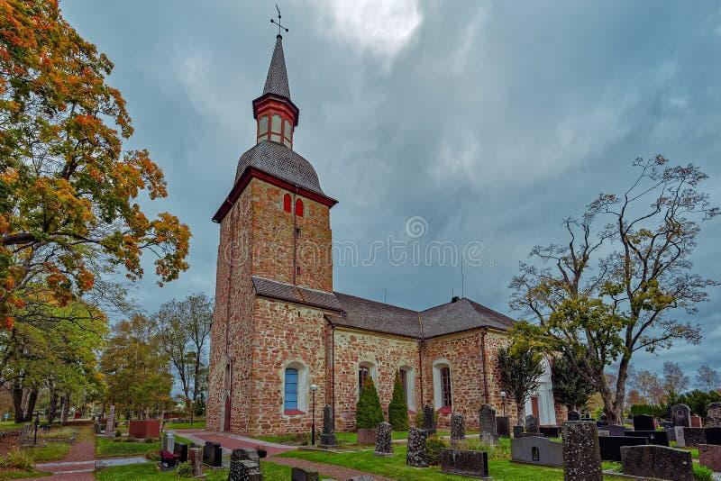 St Olaf& x27; s Kerk, Jomala, Aland-Eilanden, Finland stock foto's