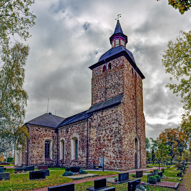 St Olaf& x27; s Kerk, Jomala, Aland-Eilanden, Finland stock fotografie