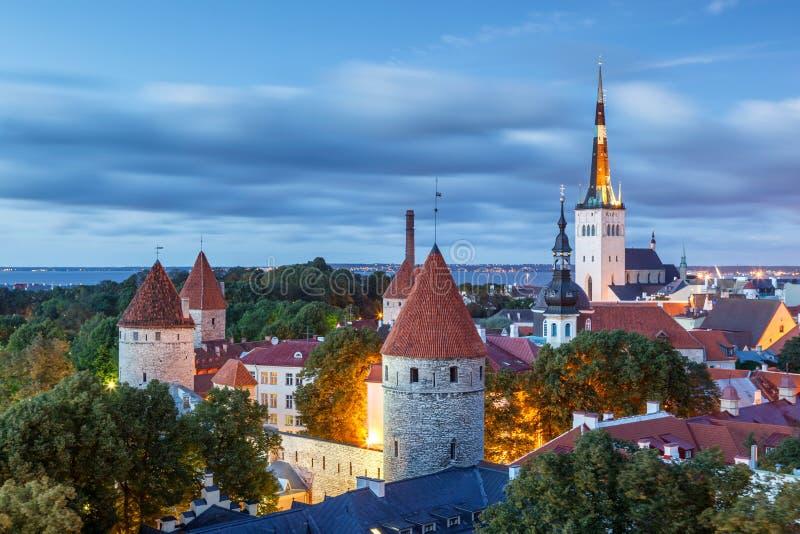 St Olafs Kościelny Tallinn Estonia zdjęcia royalty free