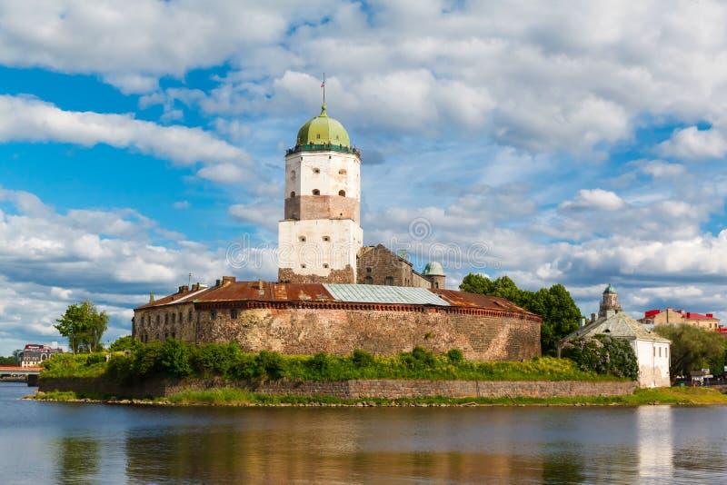 St Olov kasztel, starzy średniowieczni szwedzi w Vyborg fotografia stock