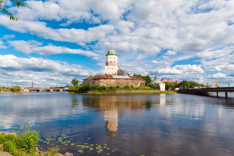 St Olov kasztel, starzy średniowieczni szwedzi w Vyborg obrazy royalty free