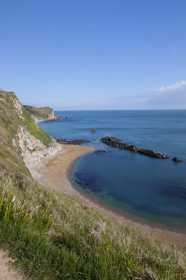 St Oswalds zatoka blisko Durdle drzwi, Dorset zdjęcie stock