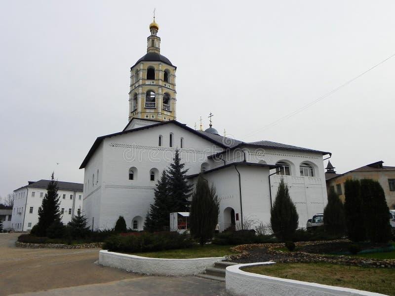 St pafnutyev Borovsky klooster Het gebied van Kaluga stock afbeeldingen