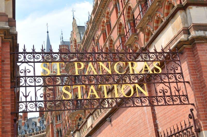 St Pancras royaltyfri foto