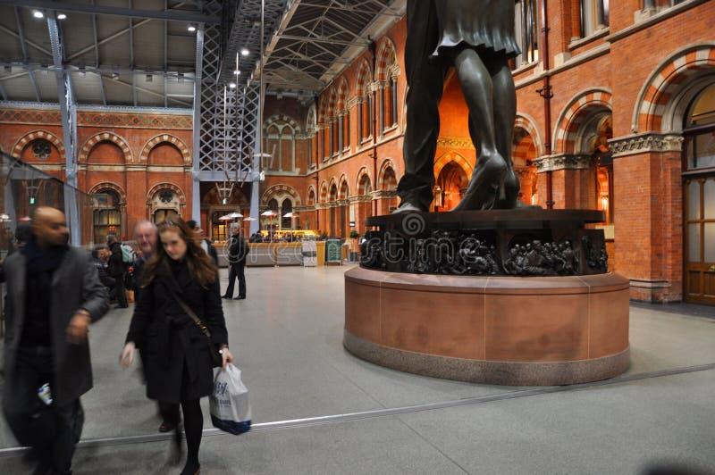 St Pancras dworzec Londyn Anglia fotografia royalty free
