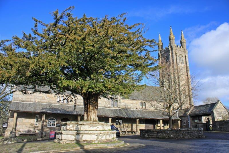 St Pancras kyrka, Widecombe royaltyfri bild