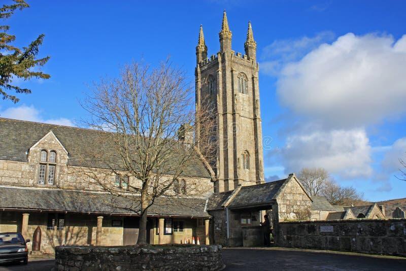 St Pancras kyrka, Widecombe fotografering för bildbyråer