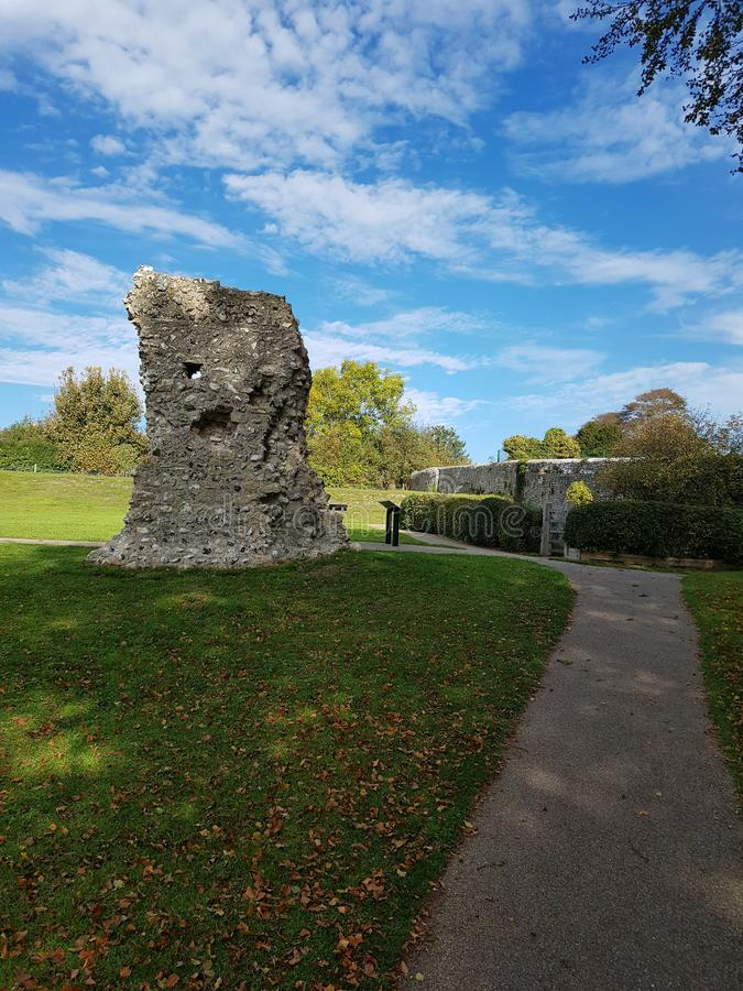 St Pancras Priory Lewes Sussex. Lewes Sussex historic buildings stock photo