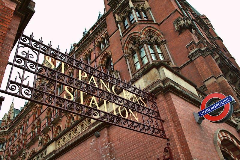 St Pancras stacji Londyn transport obrazy stock