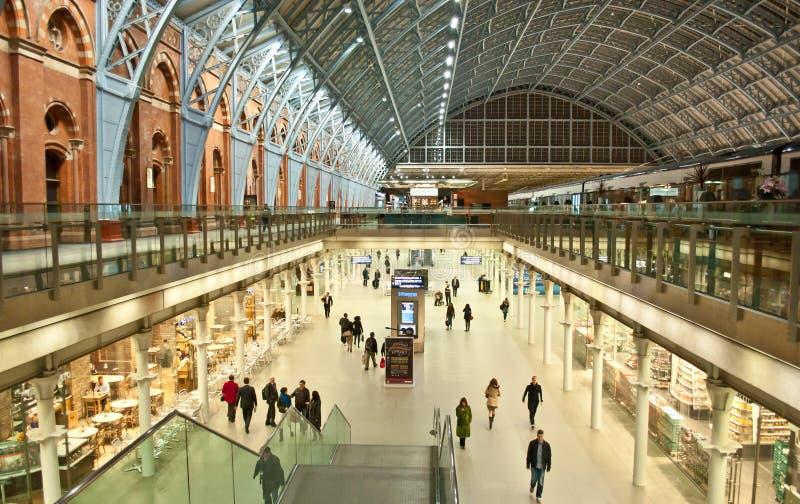 St.Pancras-station royaltyfri fotografi