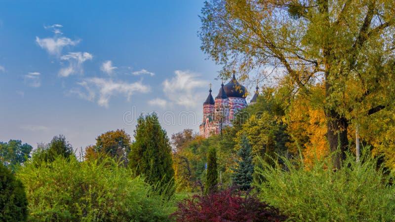St Panteleimon Cathedral, parc d'église orthodoxe de Theophany de cathédrale photos stock