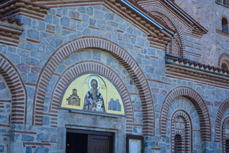 St.Panteleimon Monastery in Ohrid. The Monastery Saint Panteleimon is built before the 15th century, with baked bricks and limestone. The monastery is atributed royalty free stock photography