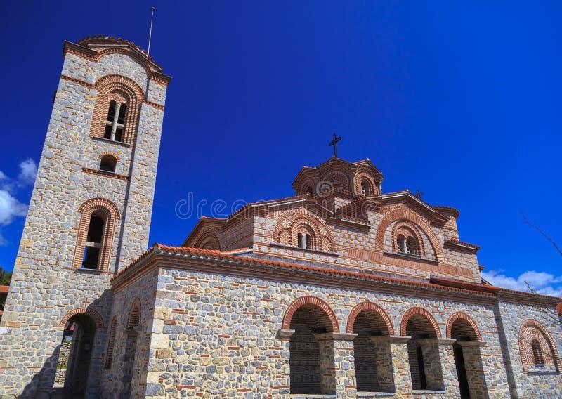 St. Panteleimon in Ohrid, Macedonia. Exterior view of St. Panteleimon in Ohrid, Macedonia royalty free stock photos