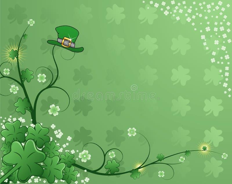 St. Patrick Achtergrond stock illustratie