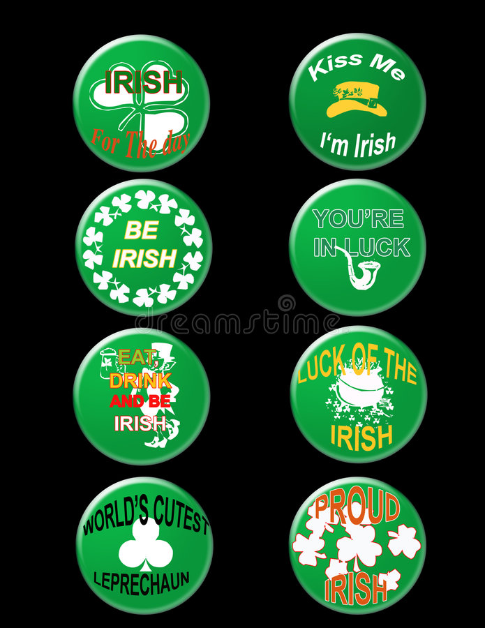 St Patrick badge vector illustration
