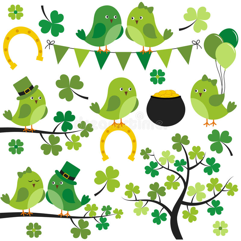 St. Patrick Birds royalty free illustration