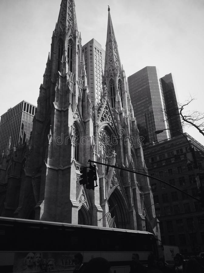 St Patrick Cathedral. Black & White Cathedral royalty free stock images