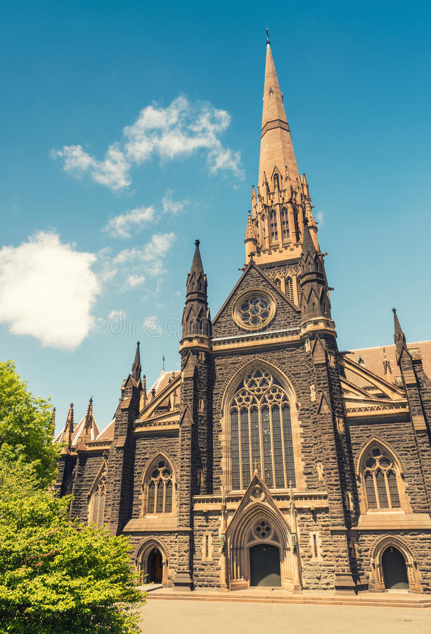St Patrick Cathedral, Melbourne - Australie images stock
