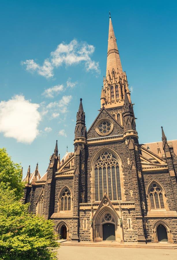 St. Patrick Cathedral, Melbourne - Australien stockbilder