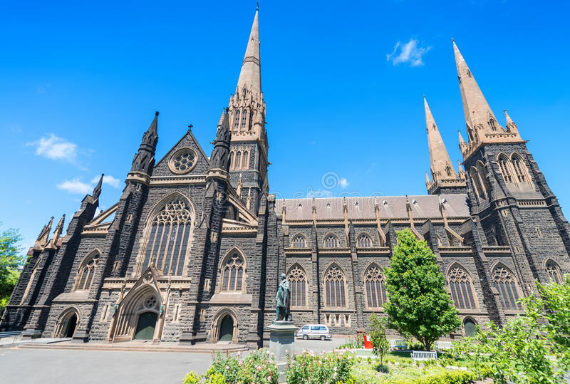 St. Patrick Cathedral, Melbourne - Australien lizenzfreie stockfotos