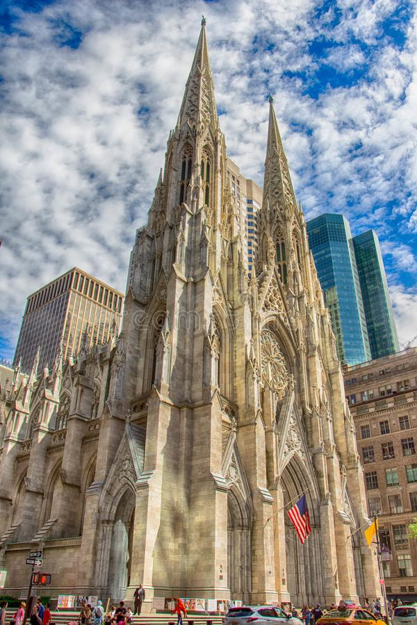 St Patrick Cathedral a New York immagine stock