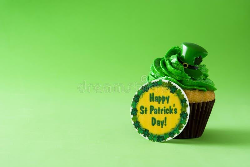 St Patrick Dag cupcake stock foto's