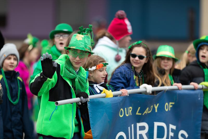 St Patrick Dag Indianapolis royalty-vrije stock afbeelding