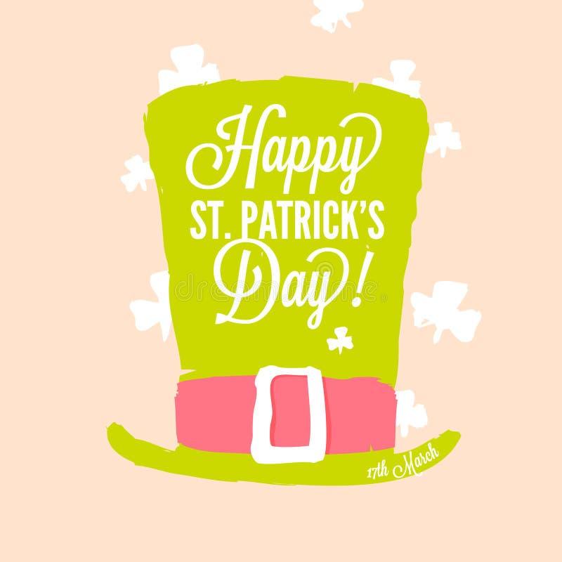 St Patrick dag - kabouterhoge zijden royalty-vrije illustratie