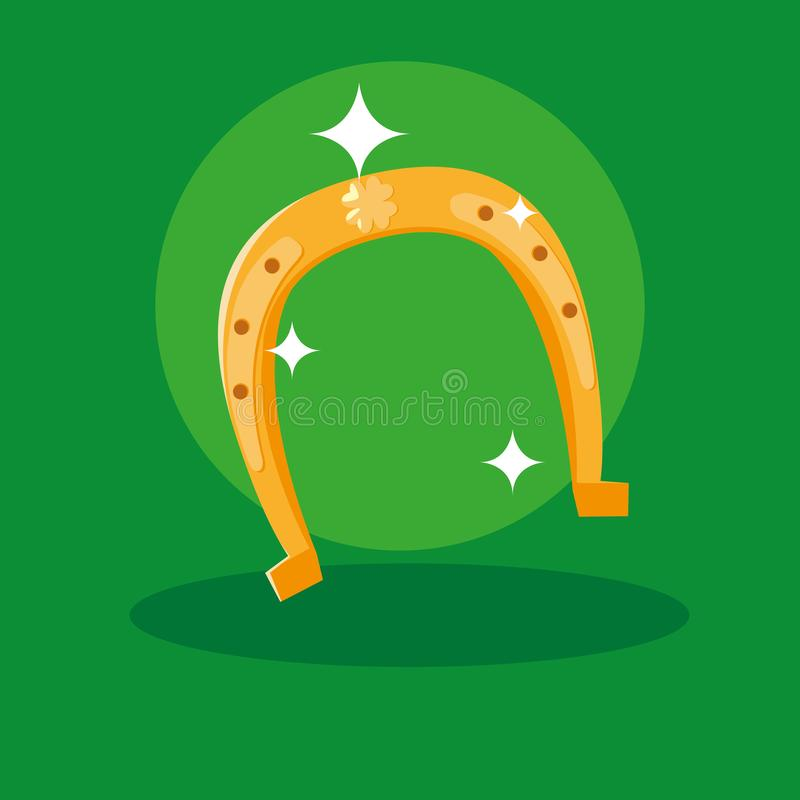 St Patrick dag met hoef stock illustratie