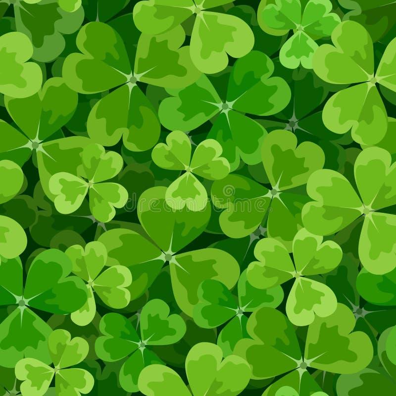 St. Patrick dag naadloze achtergrond met klaver. stock illustratie