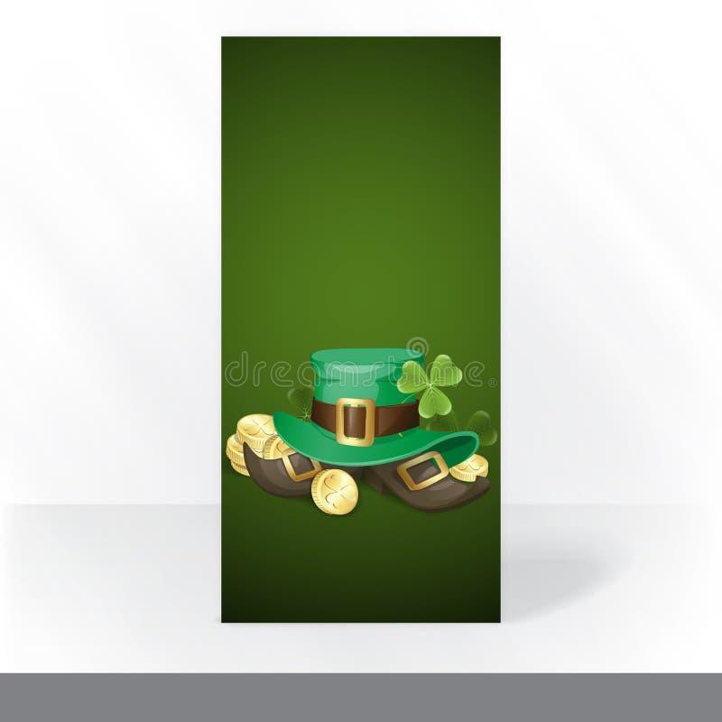 St. Patrick Dagachtergrond stock illustratie