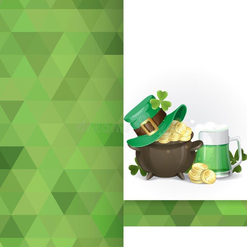 St. Patrick Dagachtergrond vector illustratie