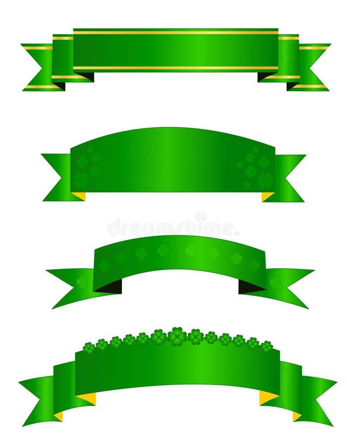 St. Patrick dagbanners royalty-vrije illustratie