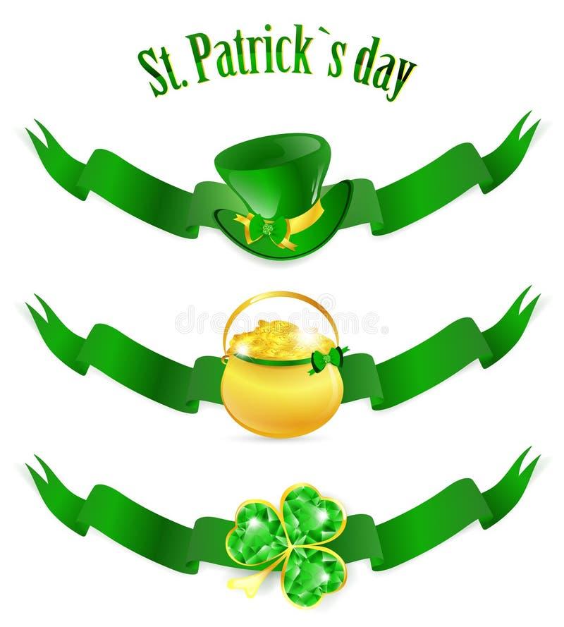 St.Patrick dagbanners royalty-vrije illustratie
