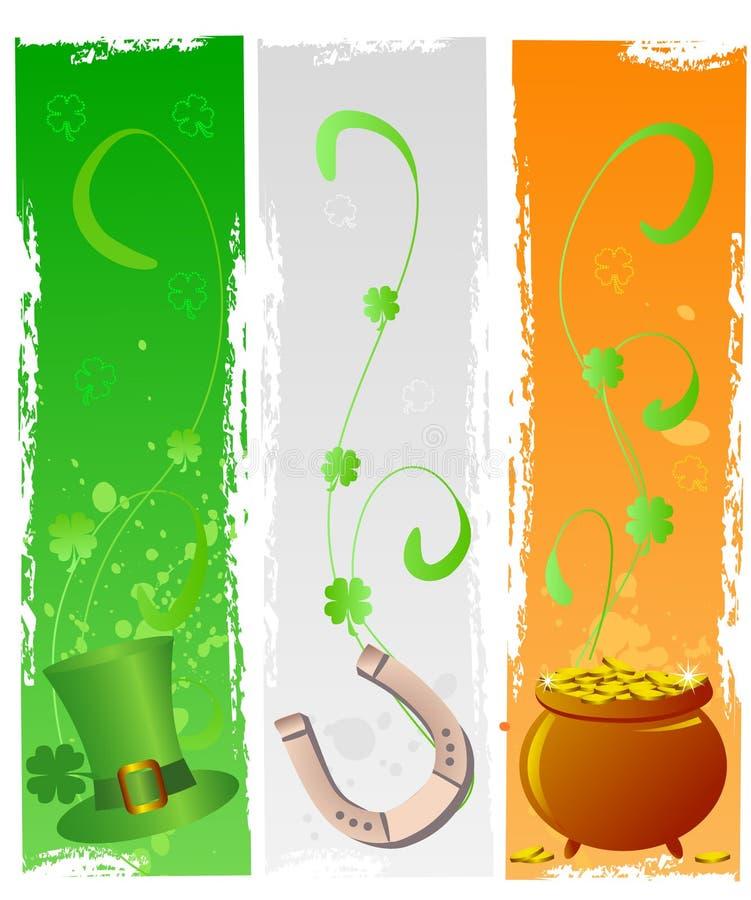 St. Patrick dagbanners stock illustratie