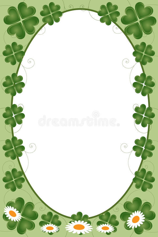 St. Patrick dagframe royalty-vrije illustratie