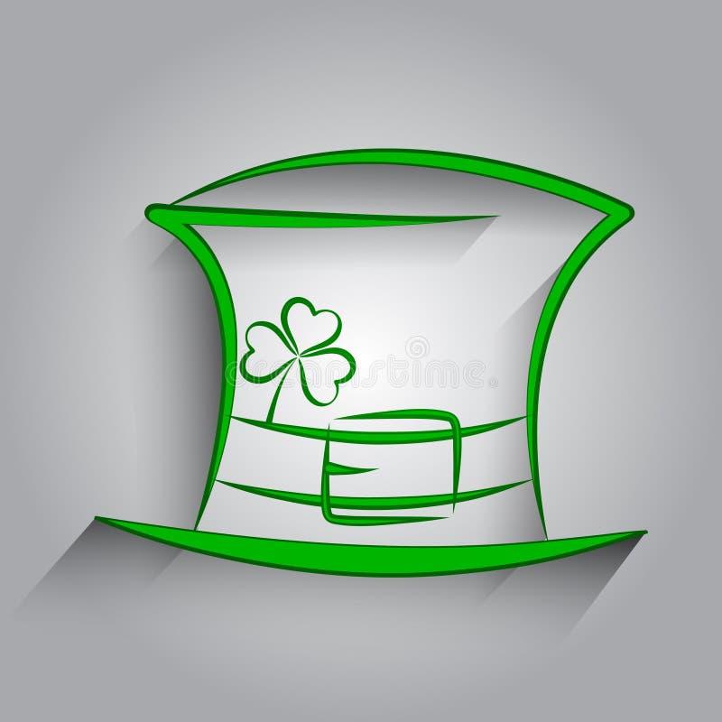 St. Patrick Dagkaart royalty-vrije illustratie