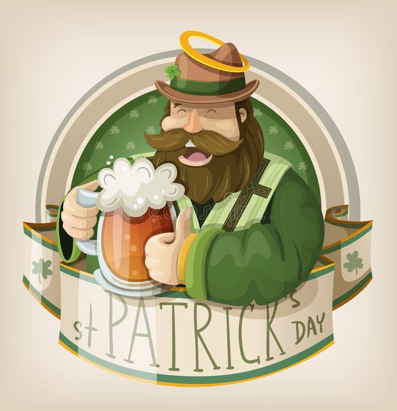 St Patrick dagkort stock illustrationer
