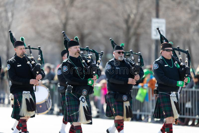 St Patrick Dagparade Chicago 2019 royalty-vrije stock afbeeldingen