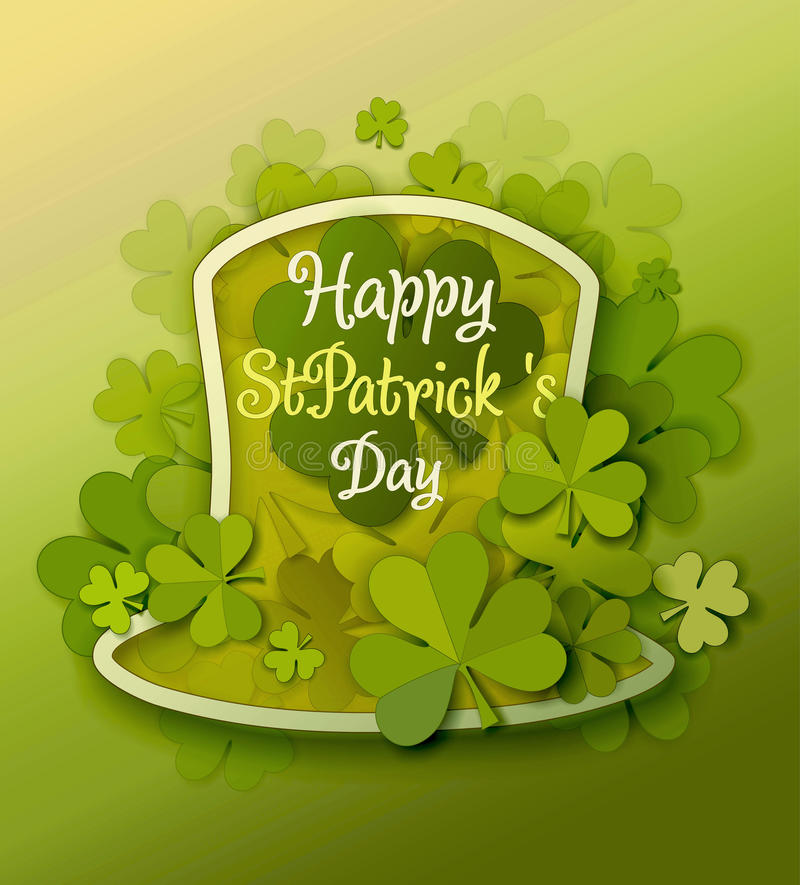 St Patrick Day Background stock illustratie