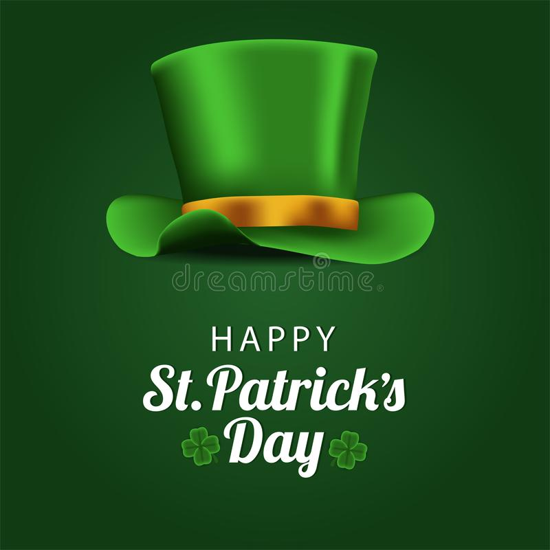 St patrick day banner template with illustration of hat. St patrick day banner template. clover shamrock leaves. 3D illustration. Vector illustration vector illustration