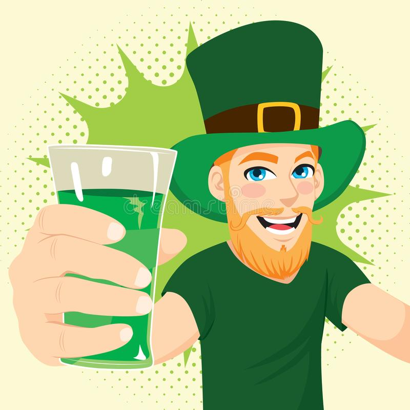St Patrick Day del hombre libre illustration