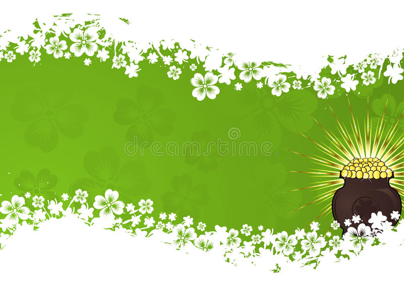 St. Patrick Day frame vector illustratie