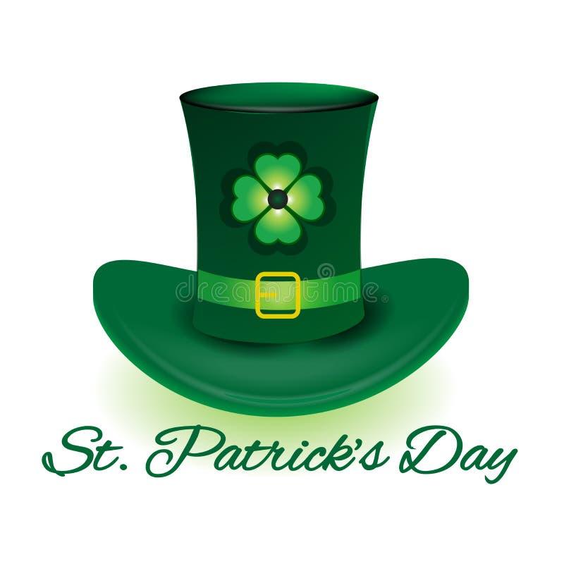 St. Patrick Day leprechaun hat royalty free illustration